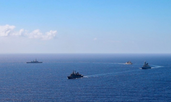 Passing Exercise of Hellenic Navy Units with SNMG2