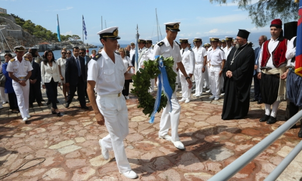 Wreath Ceremony in Honour of two Greek Sailors Who Fought in Argentina´s War of Independence
