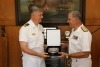 Commander Standing NATO Maritime Group 2, pays an official visit to HNGS HQ'S