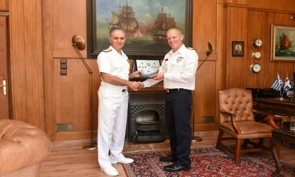 Meeting of the HNGS Chief with the Head of Operations of the Israeli Navy