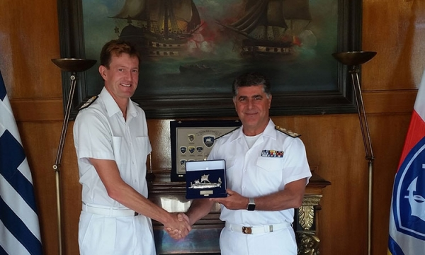 Commander Standing NATO Maritime Group 2 pays a visit to HNGS Chief