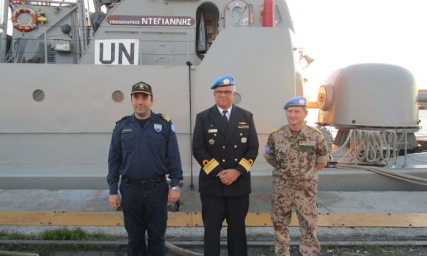 Commander of UNIFIL MTF visits HS NTEGIANNIS