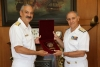 The Chief of the Romanian Navy, Rear Admiral Alexandru Mirsu, pays an official visit to Greece