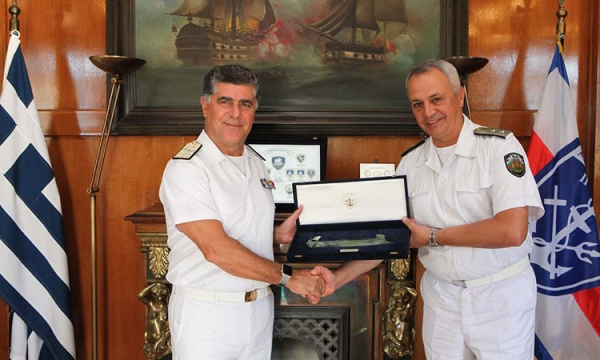 The Chief of the Bulgarian Navy, Rear Admiral Mitko Petev, pays an official visit to Greece