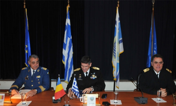 The Romanian Defence Attaché visits the Hellenic Fleet Command HQs